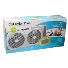"2 Units of 9"" Window twin portable fan - Electric Fans"
