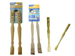 96 Units of 2pc Bamboo Backscratcher & Massager - Back Scratchers and Massagers