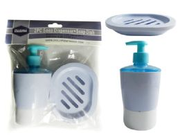 96 Units of 2pc Soap Dish & Dispenser Set - Soap Dishes & Soap Dispensers
