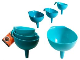 72 Units of 3 Piece Assorted Size Funnels
