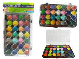 96 Units of 28 Color Water Color Set - Paint, Brushes & Finger Paint