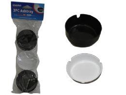 96 Units of 3 Pc Plastic Ashtrays - Ashtrays