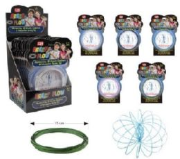 36 Units of Flow Rings Kinetic Spring Toy Glitter--Display Box - Toy Sets