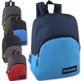 """24 Units of 15 Inch Promo Backpack - 5 Colors - Backpacks 15"""" or Less"""