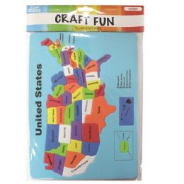 96 Units of Eva Foam Usa Map - Puzzles