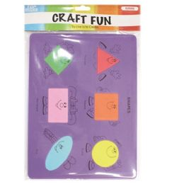 144 Units of Eva Foam Shapes - Puzzles