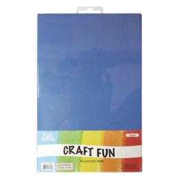 96 Units of Craft Fun Five Pack Blue Sheets - Arts & Crafts