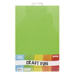 96 Units of Craft Fun Five Pack Green Sheets - Scrapbook Supplies