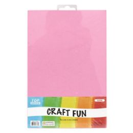 96 Units of Eva Craft Fun Sheets In Pink - Arts & Crafts