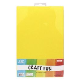 96 Units of Craft Fun Five Pack Yellow Sheets - Arts & Crafts