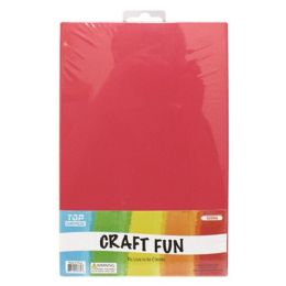 96 Units of Eva Craft Fun Sheets In Red - Arts & Crafts