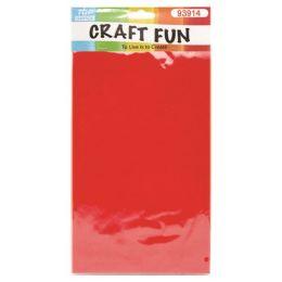 96 Units of Seven Count Non Woven Red Felt - Foam & Felt