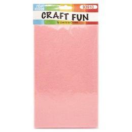 96 Units of Seven Count Non Woven Pink Felt - Foam & Felt