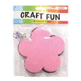 96 Units of Eva Foam Flower - Craft Glue & Glitter
