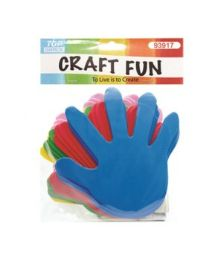 72 Units of Craft Fun Assorted Colored Palms - Scrapbook Supplies