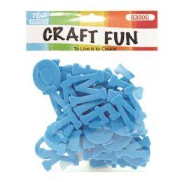 96 Units of Craft Fun Baby Blue Letters - Foam & Felt