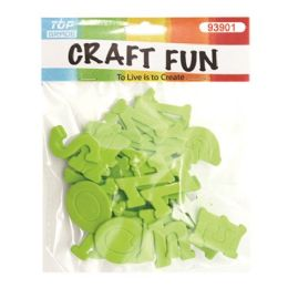 96 Units of Craft Fun Green Letters - Scrapbook Supplies