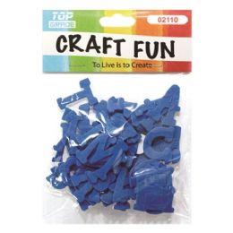 96 Units of Craft Fun Blue Letters - Foam & Felt