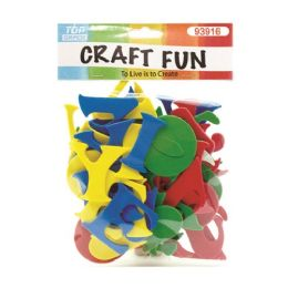 96 Units of Craft Fun Mixed Colors Letters - Scrapbook Supplies