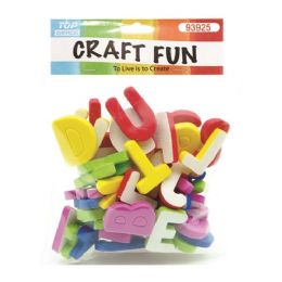 72 Units of Craft Fun Mixed Color Thick Letters - Scrapbook Supplies