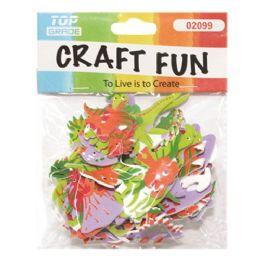 96 Units of Craft Fun Assorted Dinosaurs - Foam & Felt