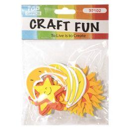 96 Units of Craft Fun Sun Moon Star - Scrapbook Supplies