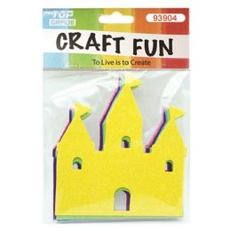 96 Units of Craft Fun Five Pack Castles - Craft Glue & Glitter