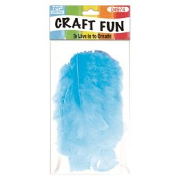 96 Units of Feather Baby Blue - Pom Poms and Feathers