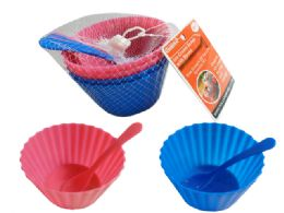 96 Units of 8 Piece Ice Cream Cup & Spoons - Kitchen Utensils