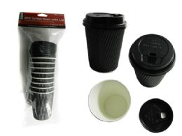 48 Units of 8pc Coffee Cups With Lids - Chargers & Adapters
