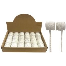 144 Units of Craft decoration. Pearls String Roll - Craft Beads