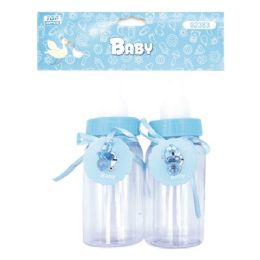 144 Units of Two Count Bottle Baby Blue - Baby Shower