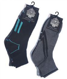 60 Units of Mens' Quarter Cushion Sport Socks - Mens Crew Socks