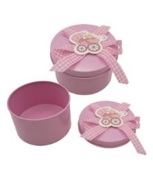 144 Units of Jewelry Box Baby Pink - Jewelry Box