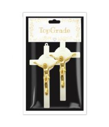 144 Units of Gold Cross Two Count - Baby Shower