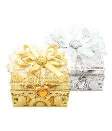144 Units of Jewelry box Silver And Gold - Jewelry Box