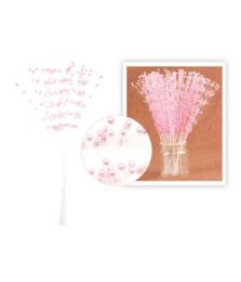 144 Units of Spray Bead Party Decoration Baby Pink - Party Center Pieces