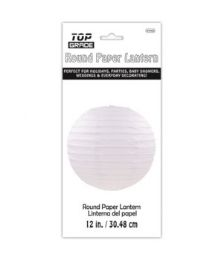 96 Units of Paper Lantern Twelve Inch White - Party Center Pieces