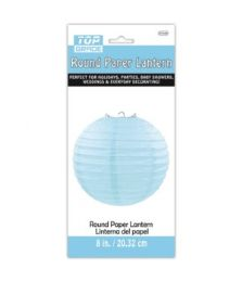 96 Units of Paper Lantern Nine Inch Baby Blue - Party Center Pieces