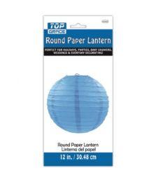 96 Units of Paper Lantern Twelve Inch Blue - Party Center Pieces