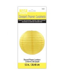 96 Units of Paper Lantern Twelve Inch Yellow - Party Center Pieces