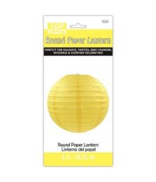 96 Units of Paper Lantern Nine Inch Yellow - Party Center Pieces