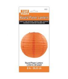 96 Units of Paper Lantern Nine Inch Orange - Party Center Pieces