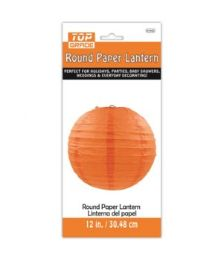96 Units of Paper Lantern Twelve Inch Orange - Party Center Pieces