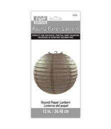 96 Units of Paper Lantern Twelve Inch Grey - Party Center Pieces