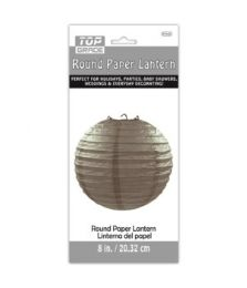 96 Units of Paper Lantern Nine Inch Grey - Party Center Pieces