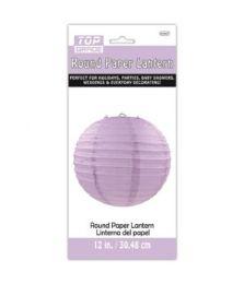96 Units of Paper Lantern Twelve Inch Lavender - Party Center Pieces