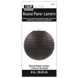 96 Units of Paper Lantern Nine Inch Black - Party Center Pieces