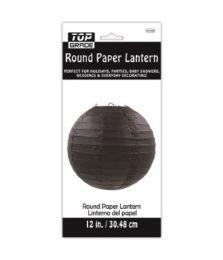 96 Units of Paper Lantern Twelve Inch Black - Party Center Pieces