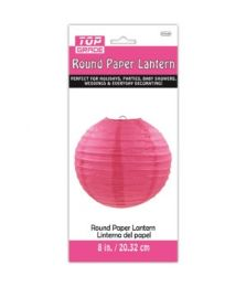 96 Units of Paper Lantern Nine Inch Hot Pink - Party Center Pieces